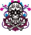 DG Sugar Skull VNeck