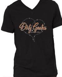 Dirty Goatees Orange Glitter VNeck
